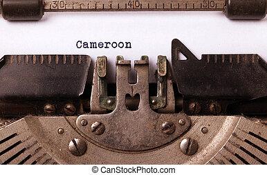 Kameroen, oud,  -, typemachine