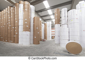Paper rolls warehouse - Paper rolls storage room