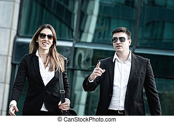 Corporate business people on the move