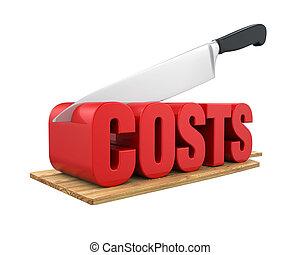 Costs Cuts Concept