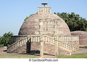 Sanchi Stupa is located at Sanchi Town in India - Sanchi...