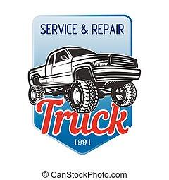car off-road service 4x4 suv emblem, badges
