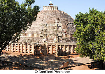 Sanchi Stupa is located at Sanchi Town, Madhya Pradesh state...