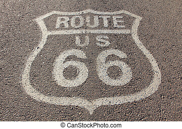 Sixty six road - Asphalt road with number sixty six