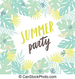 Summer party template. Flyer, poster.
