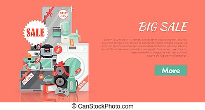 Big Super Web Sale Banner. Household Appliances - Big super...