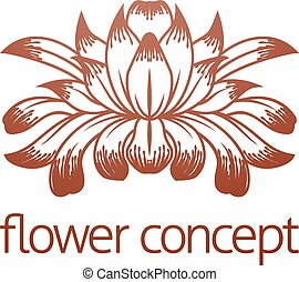 Floral Flower Design Concept Icon