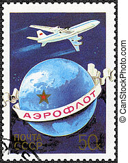 USSR - 1983: dedicated 60th Anniversary of Aeroflot Airlines...