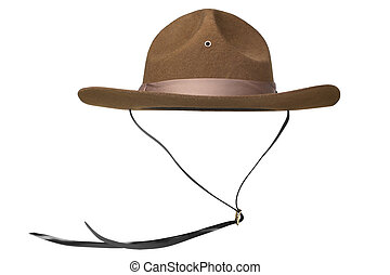 Ranger hat isolated on white background
