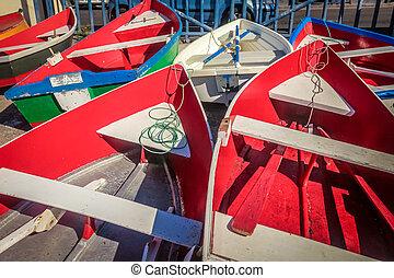 Boats at La Gomera port, Canary Islands, Spain
