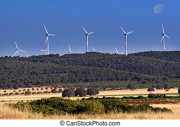 Wind power generators in Spain
