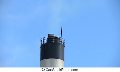 Smoke from chimney at manufacturing enterprise - Smoke from...