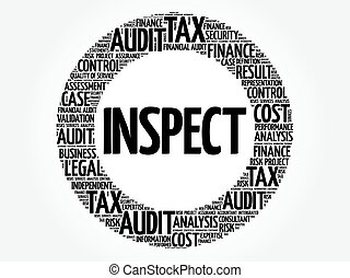INSPECT word cloud, business concept