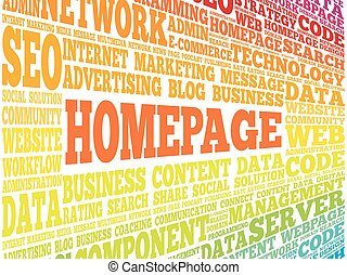 Homepage word cloud, business concept