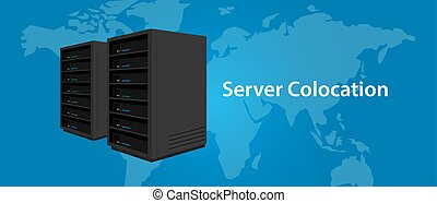 Colocation server web hosting services infrasctructure...
