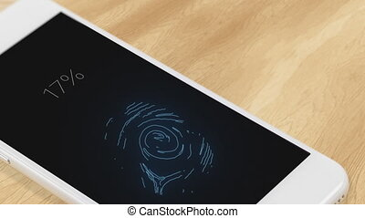 Fingerprint recognition in a mobile phone - Smartphone...