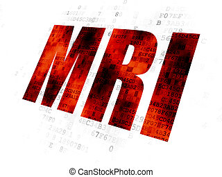 Healthcare concept: MRI on Digital background - Healthcare...