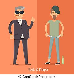 Rich and Pauper Men. Social Level. Human Poster - Rich and...