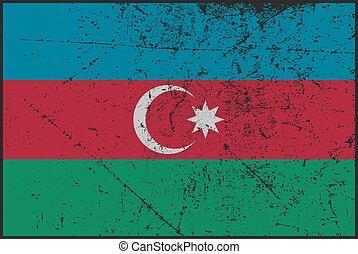 Azerbaijan Flag Grunged - A grunged Azerbaijan flag design