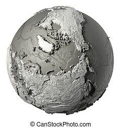 3D Globe North Pole