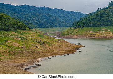 Mountain water source, back of Khun Dan Prakan Chon Dam,...