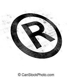 Law concept: Registered on Digital background - Law concept:...