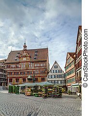 Market Square, Tubingen, Germany - View of Market Square...
