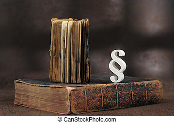 Paragraph symbol on a old book