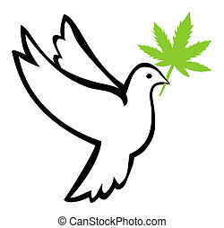 Weed for Peace - Marijuana use induces peaceful behavior and...