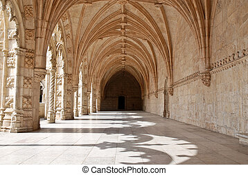 The Hieronymites Monastery Mosteiro dos Jeronimos, located...