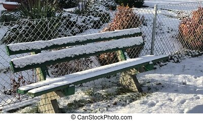 Allotments in snowy winter - Allotments in snowy wintry...