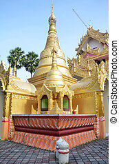 Popular Burmese Temple in Penang, Malaysia - View of a...