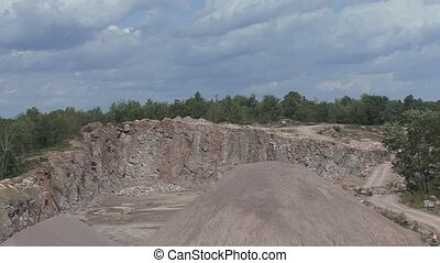 Explosion at the quarry - Miners set an explosion at the...