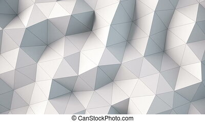 white polygonal geometric surface. computer generated...