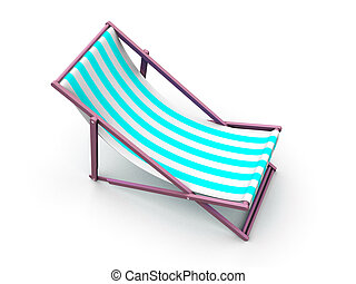 sunlounger  - 3d rendered illustration of a deck chair