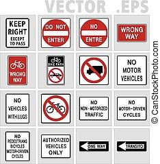 Traffic sign road. Vector, Illustration.
