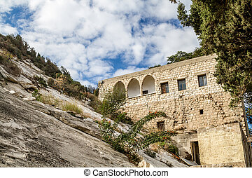 Cave of Elijah in Haifa, Israel - The Cave of Elijah, Mount...