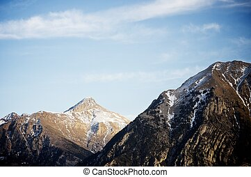 Pyrenees - Mountains in Pyrenees, Huesca, Aragon, Spain.