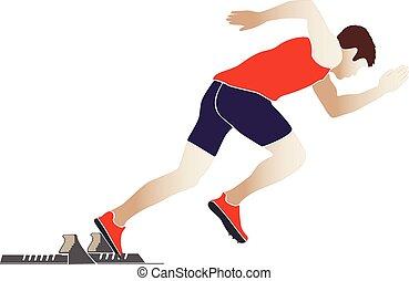 start sprinter athlete runner
