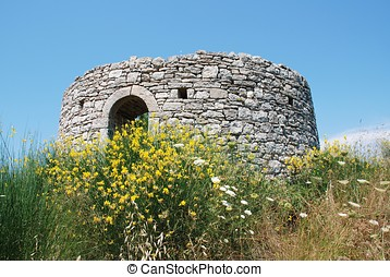Defence post, Paxos island - An old wartime defence post on...