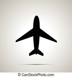 Plane simple black icon - Plane simple modern black icon...