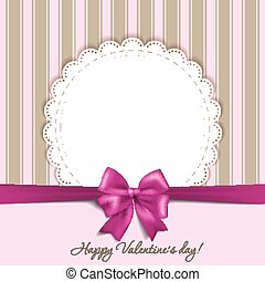 Valentines card with a bow