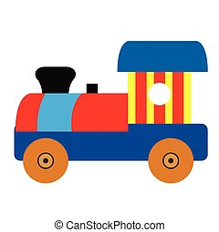 Isolated train toy