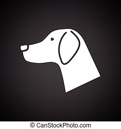 Dog head icon
