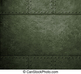 metall, grön, bakgrund, militär