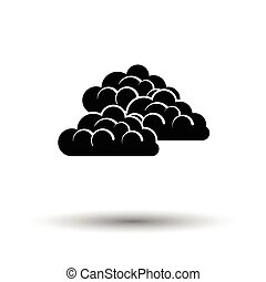 Cloudy icon. White background with shadow design. Vector...