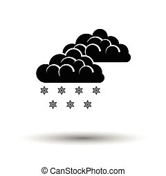 Snow icon. White background with shadow design. Vector...