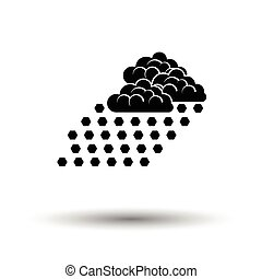Hail icon. White background with shadow design. Vector...