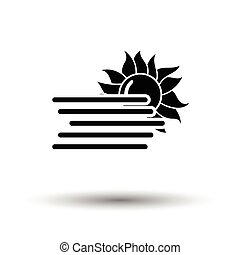 Fog icon. White background with shadow design. Vector...