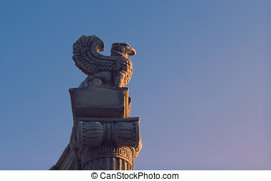 Griffin. Mythical guard at his post